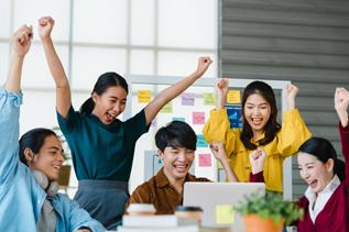 A happy agile team