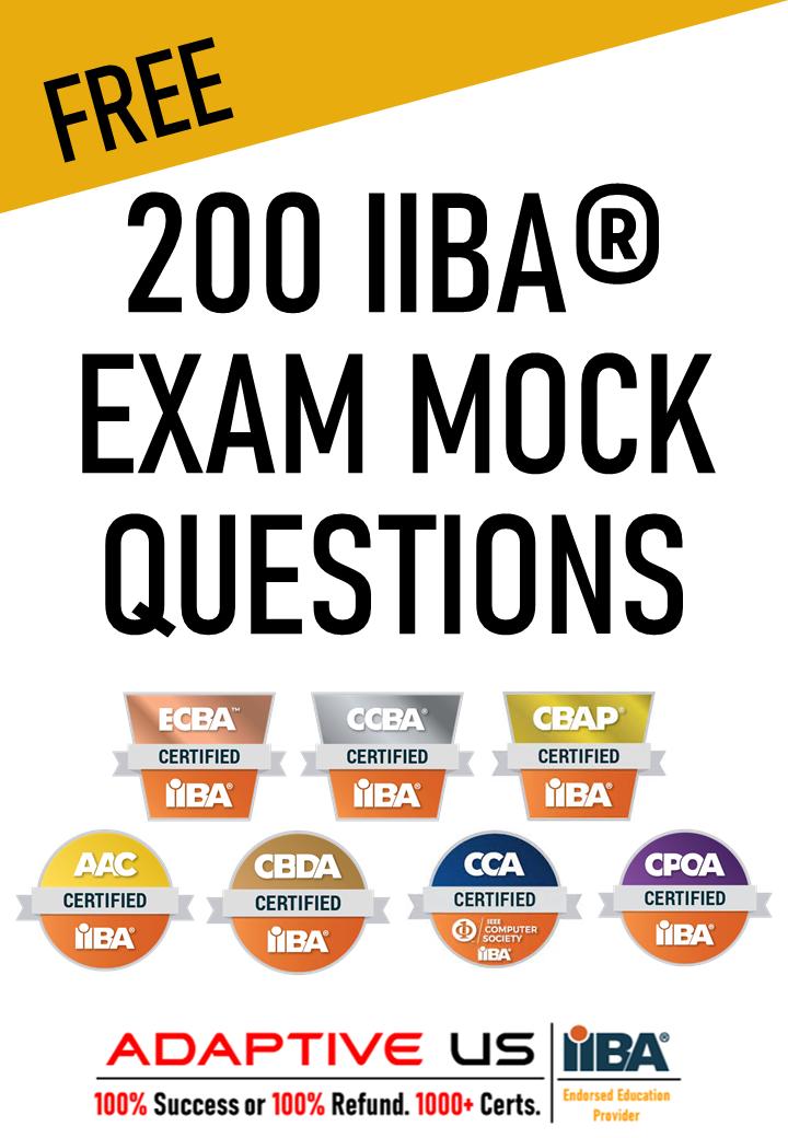 Cover Page - IIBA Model Questions - For IIBA Ad